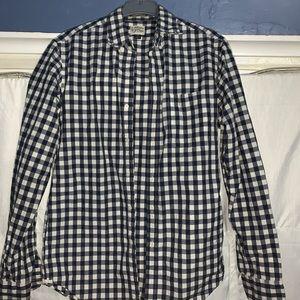 J. Crew checkered button up shirt small